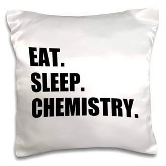 3dRose Eat Sleep Chemistry - passionate about science chemist student teacher, Pillow Case, 16 by 16-inch