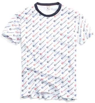 Todd Snyder + Champion Champion All Over Graphic Tee in White
