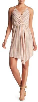BCBGeneration Striped Surplice Dress