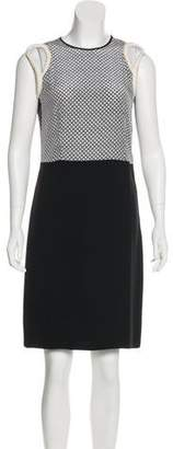 Stella McCartney Sleeveless Silk-Paneled Dress