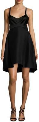 Halston Women's Fitted Cotton Sweetheart Dress