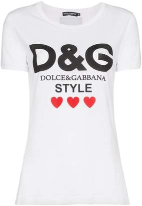 Dolce & Gabbana logo printed crew neck t-shirt