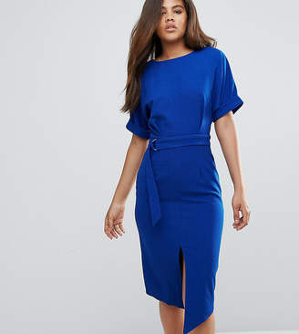 Asos Tall TALL Smart Woven Midi Dress with D-Ring