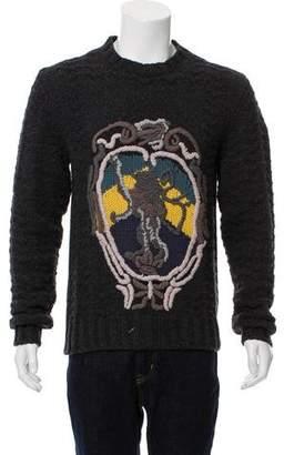 Dolce & Gabbana Intarsia Wool Sweater w/ Tags