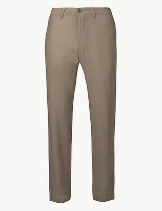 Marks and Spencer Linen Blend Trousers