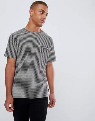 Paul Smith slim fit stripe pocket tshirt in burgundy