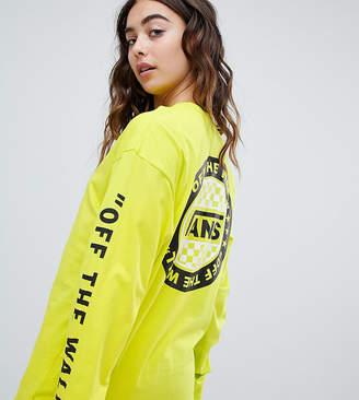 Vans Exclusive To Asos Oversized Long Sleeve T-Shirt In Yellow