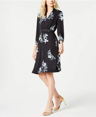 French Connection Floral-Print V-Neck Dress