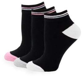 Juicy Couture Three-Pack Novelty Ankle Socks