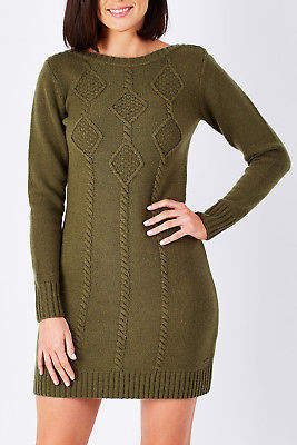 Hatley NEW Womens Knee Length Dresses Cable Knit Dress WinterGree