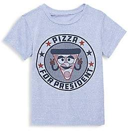 Tiny Whales Little Boy's & Boy's Pizza For President Tee