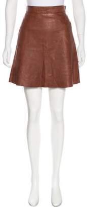Organic by John Patrick Leather Mini Skirt