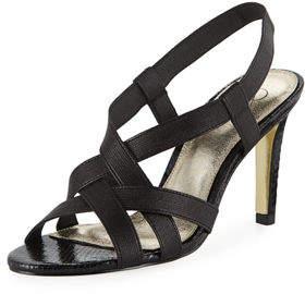 Adrianna Papell Addie Heeled Stretch-Fabric Sandal