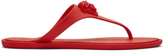 Versace Red Medusa Sandals $295 thestylecure.com