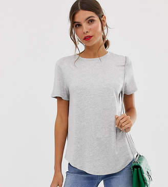 Oasis t-shirt with dip hem in gray