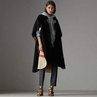 Burberry Reversible Check Oversized Poncho