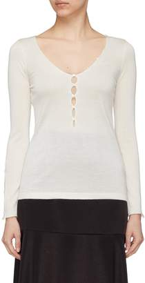 Mulberry CRUSH Collection Button keyhole silk-cashmere sweater