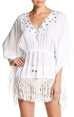Nicole Miller Embroidered Tunic