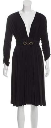 Just Cavalli Long Sleeve V-Neck Dress