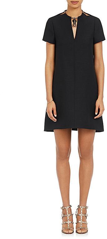 ValentinoValentino Women's Necklace-Detailed A-Line Dress-Black