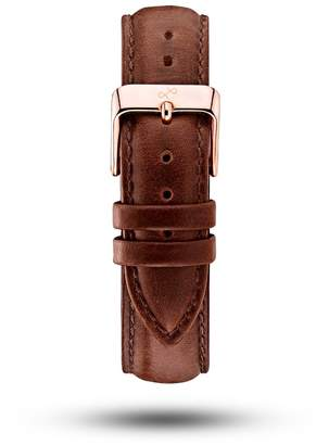 About Vintage - Brown Leather Strap & Rose Gold