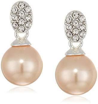 Anne Klein Women's Pearl Post Drop Earrings