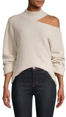 RtA Langley Cutout Shoulder Sweater