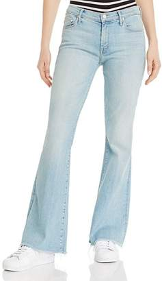 Mother The Weekender Flared Jeans in Swimming Pool Sunday