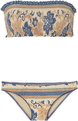 Zimmermann Castille Shirred Bikini