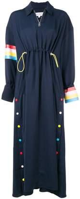 Mira Mikati rainbow trim dress