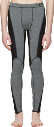 Versace Underwear Grey Panelled Leggings $525 thestylecure.com