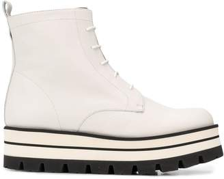 Paloma Barceló striped flatform boots
