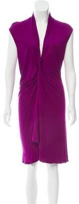 Saint Laurent Sleeveless Knee-Length Dress