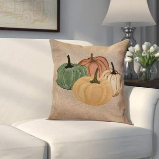 Alcott Hill Miller Paper Mache Pumpkins Outdoor Throw Pillow
