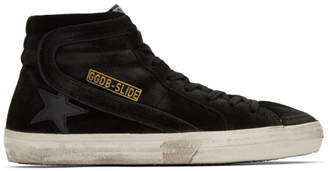 Golden Goose Black Slide High-Top Sneakers