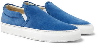 Common Projects Suede Slip-On Sneakers - Men - Blue