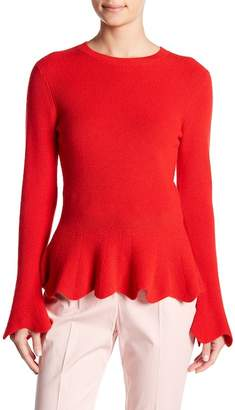 Ted Baker Knitted Peplum Top