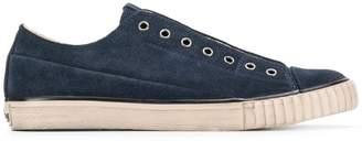 John Varvatos denim laceless sneakers