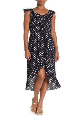 Como Vintage Ruffled High/Low Midi Dress