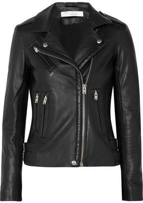 IRO Han Leather Biker Jacket - Black
