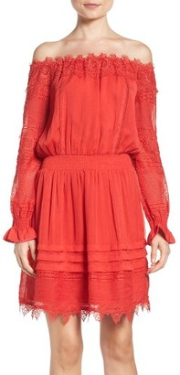 Women's Adelyn Rae Off The Shoulder Lace Dress $128 thestylecure.com