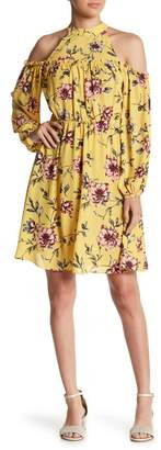 Soprano High Neck Floral Skater Dress