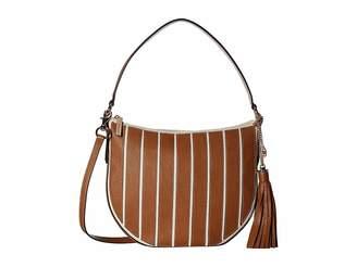 MICHAEL Michael Kors Applique Stripe Canvas Brklyn Medium Conv Hobo Hobo Handbags