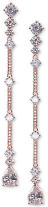 Nina Crystal & Stone Linear Drop Earrings