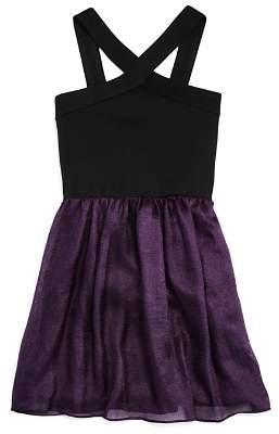 Sally Miller Girls' Chicago Contrast Chiffon Dress - Big Kid
