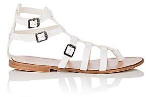 Barneys New York WOMEN'S LEATHER GLADIATOR SANDALS-WHITE SIZE 8