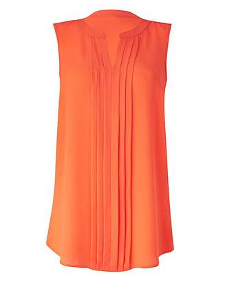 Fashion World Sleeveless Pleat Detail Blouse