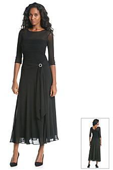 Sangria Sangria™ Belted Long Dress