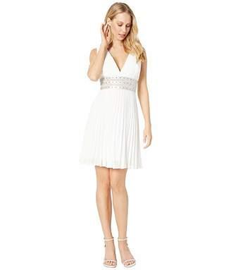 BCBGMAXAZRIA Short Woven Evening Dress