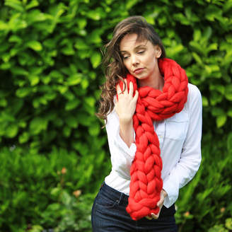 Wool Couture Chunky Knit Scarf Luxury Wool